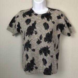 Karen Scott PM sweater lambs wool/ Angora Gray
